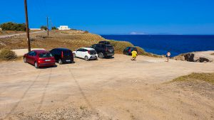One of the parkings near the Baxedes Beach
