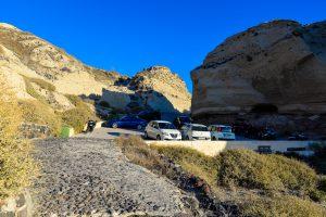 Parking at the Katharos Beach