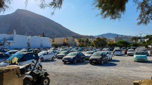 Parking places at center of Kamari