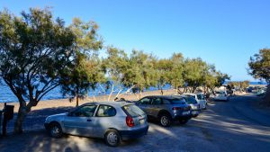 Parking area at Vourvoulos Beach