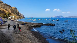 Caldera Beach is a well-known place among scuba divers