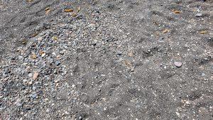 Volcanic sand on Kambia Beach