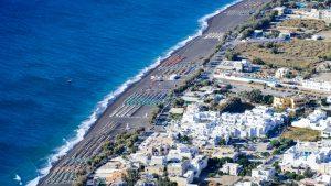 Bird's-eye view of Perissa Beach