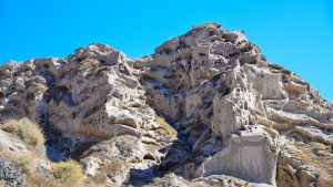 Rock formations at Theros Beach