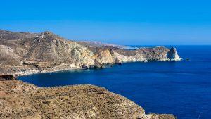 View of White Beach from Akra Mavro Vouno
