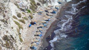 Sun umbrellas on White Beach